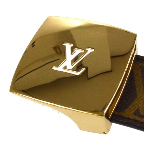 LOUIS VUITTON Buckle Ceinture LV Cut Belt Monogram