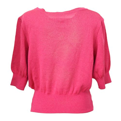 Yves Saint Laurent Short Sleeve Tops Knit Pink