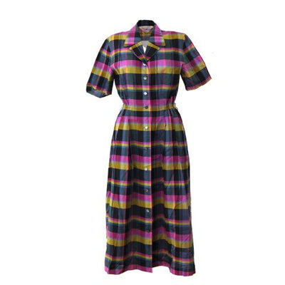 BURBERRY Check Short Sleeve One Piece Dresses Pink