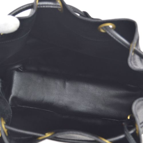CHANEL CC Chain Drawstring Shoulder Bag Black