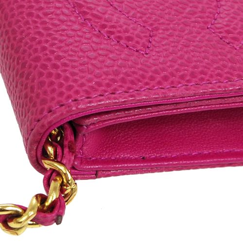 CHANEL CC Chain Shoulder Bag Phone Case Pink