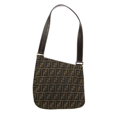 FENDI Zucca Shoulder Tote Bag Brown
