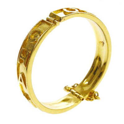 CHANEL Logos Bangle Gold