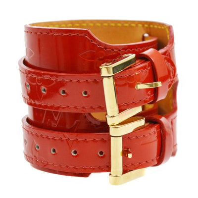 LOUIS VUITTON Vernis Charlton Bangle M91076 Red
