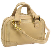 LOEWE MICRO MINI AMAZONA 2way Mini Hand Bag Charm Beige