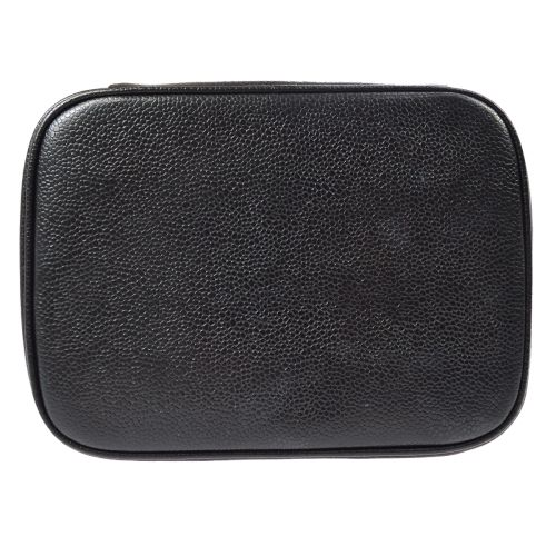 CHANEL CC Cosmetic Vanity Hand Bag Black