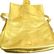FENDI Stone Mamma Baguette Shoulder Bag Gold