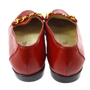 CHANEL CC Logos Pumps Shoes Red
