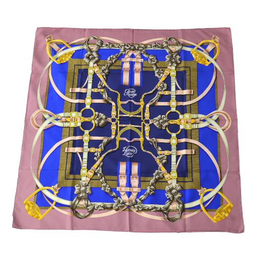 HERMES Grand Manege Scarf Purple