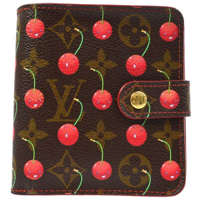 LOUIS VUITTON MONOGRAM CHERRY COMPACT ZIP WALLET M95005
