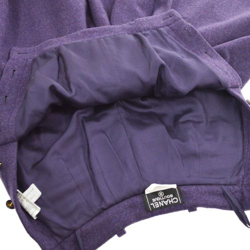 CHANEL Wide Pants Purple #36 95A