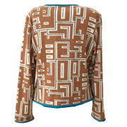 FENDI Long Sleeve Cardigan Tops Brown
