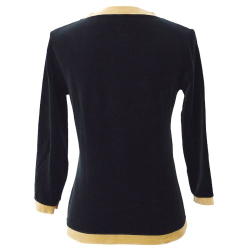 FENDI Long Sleeve Tops Black #40