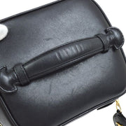 CHANEL Quilted Vanity Hand Bag Black