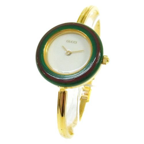 GUCCI Change Bezel Quartz Wristwatch Watch Bangle Gold