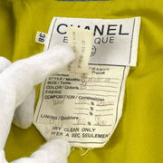 CHANEL CC Logos Set Up Suit Jacket Skirt Green