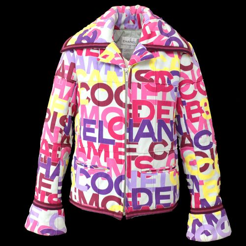 CHANEL CC Long Sleeve Over Coat Jacket Purple Pink 00A