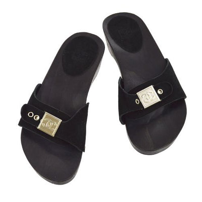 CHANEL Sport Line CC Logos Shoes Sandals Black