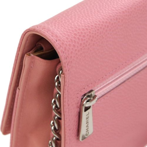 CHANEL Woc CC Logos Chain Shoulder Wallet Bag Pink