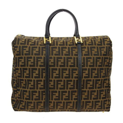 FENDI Zucca Pattern 2way Hand Tote Bag Brown