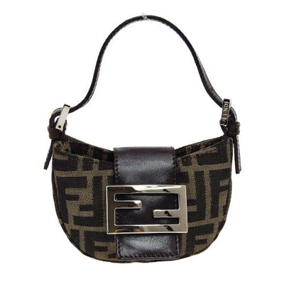 FENDI Zucca Mini Hand Bag Brown