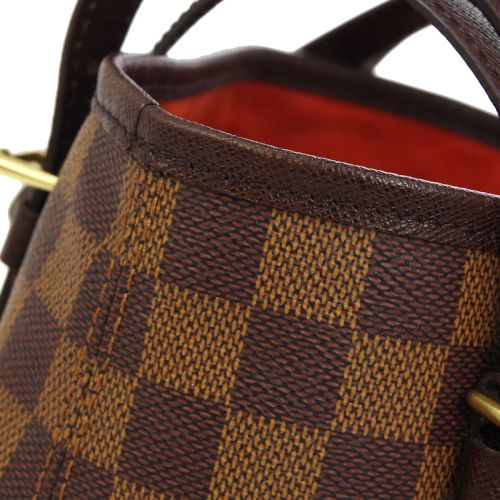 LOUIS VUITTON BUCKET PM SHOULDER TOTE BAG DAMIER EBENE N42240