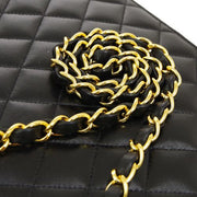 CHANEL Quilted Classic Single  Flap Medium Shoulder Bag Black