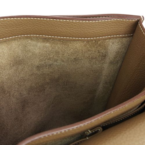 HERMES Sac A Depeche 38 Briefcase Hand Bag Brown Traurillon Clemence