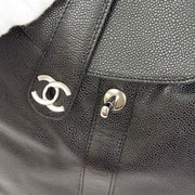 CHANEL CC Chain Backpack Bag Black