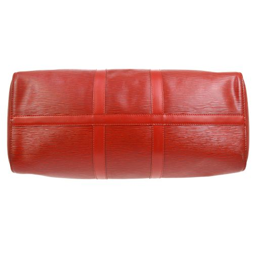 LOUIS VUITTON KEEPALL 45 TRAVEL HAND BAG EPI RED M42977