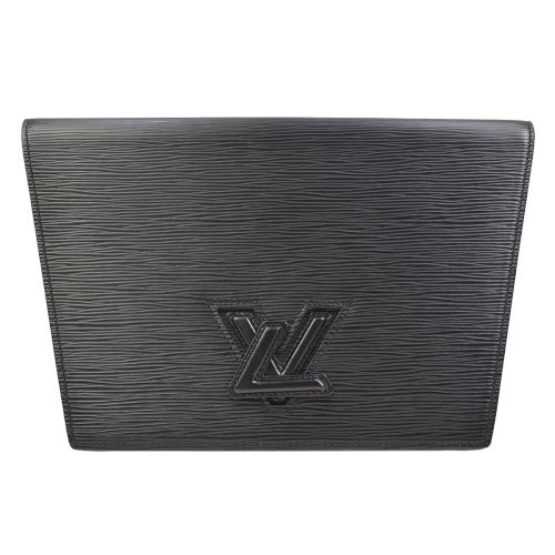 LOUIS VUITTON POCHETTE TRAPEZE PM CLUTCH BAG EPI BLACK M80165