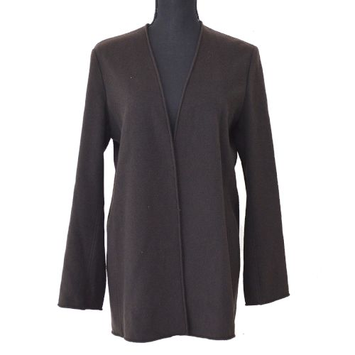 HERMES Long Sleeve Cardigan Brown