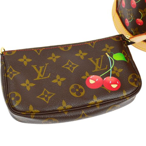 LOUIS VUITTON BUCKET PM SHOULDER TOTE BAG MONOGRAM CHERRY M95012 TAKASHI MURAKAMI
