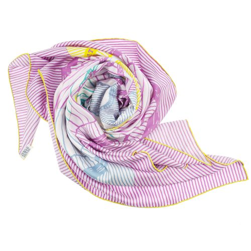 HERMES SUITEET POURSUITE Jumbo Scarf Purple