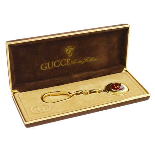 GUCCI Bag Charm Key Holder Gold