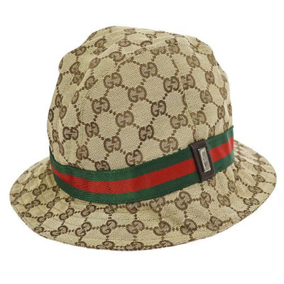 GUCCI Shelly Line GG Pattern Hat Brown