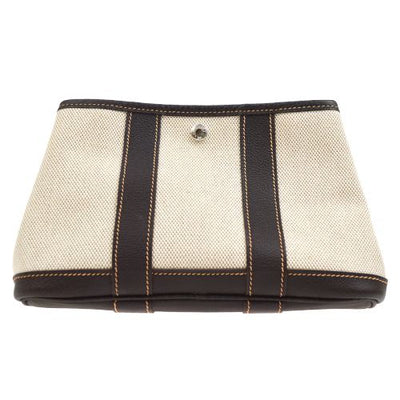 HERMES GARDEN PARTY TTPM Clutch Bag Brown