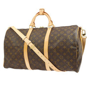 LOUIS VUITTON KEEPALL 50 BANDOULIERE TRAVEL HAND BAG MONOGRAM