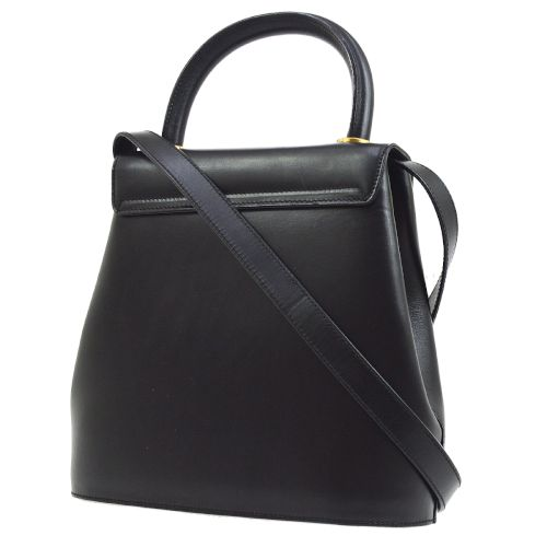 Salvatore Ferragamo Logos 2way Hand Bag Purse Black