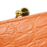 Salvatore Ferragamo Vara Bow Chain Shoulder Bag Orange