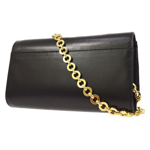 Salvatore Ferragamo Vara Bow Chain Shoulder Bag Black