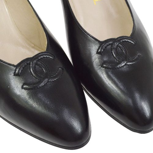 CHANEL Pumps Shoes Black