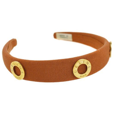 CELINE Headband Hair Accessories Brown