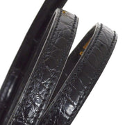 HERMES Shoulder Strap for Mini Kelly Black Crocodile