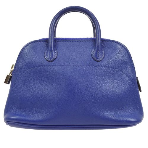 HERMES Mini Bolide 2way Hand Bag Purple Swift