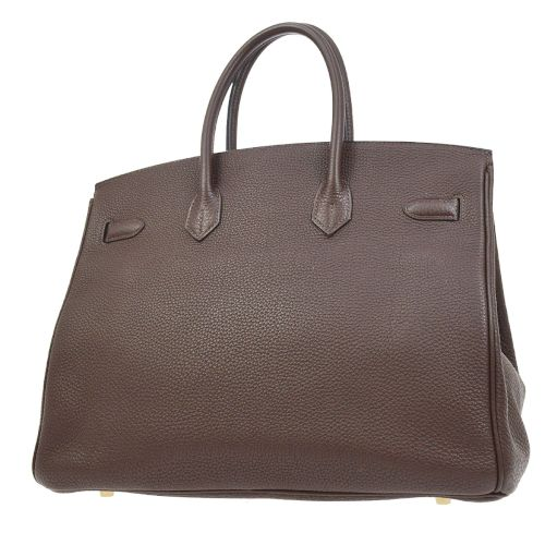 HERMES BIRKIN 35 Hand Bag Brown Taurillon Clemence