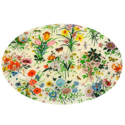 GUCCI Flora Line Tray Dish Plate Pottery