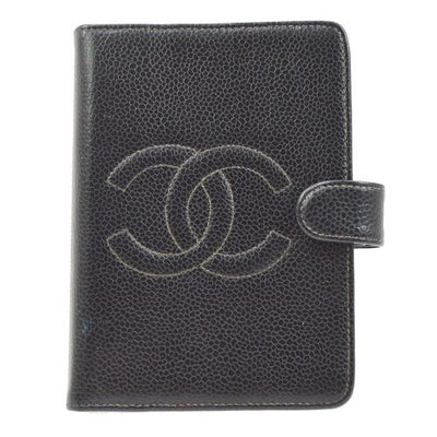 CHANEL Agenda Notebook Cover Black Caviar