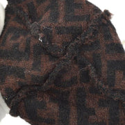 FENDI Zucca Pattern Knitted Cap Had Brown