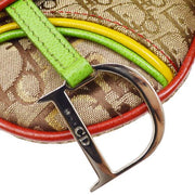 Christian Dior Trotter Pattern Saddle Bum Bag Rasta-Color